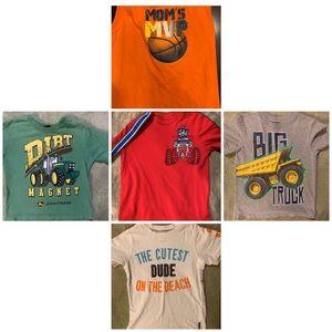 4t Boys T-shirts bundle of 5
